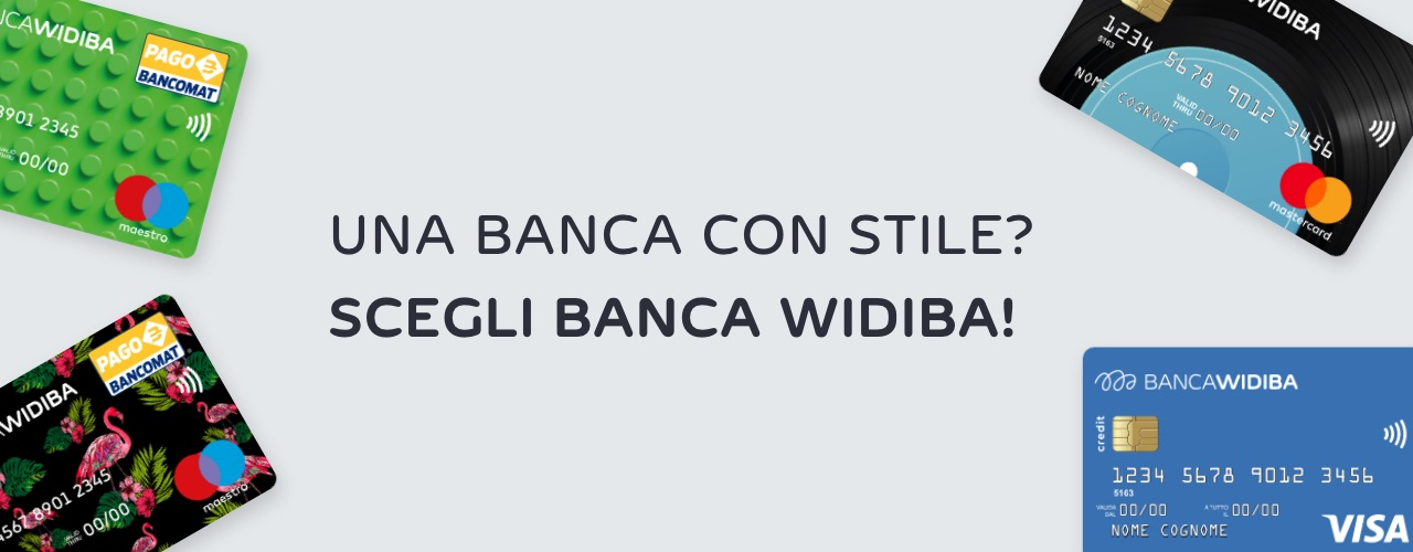 Open an online current account with Banca Widiba